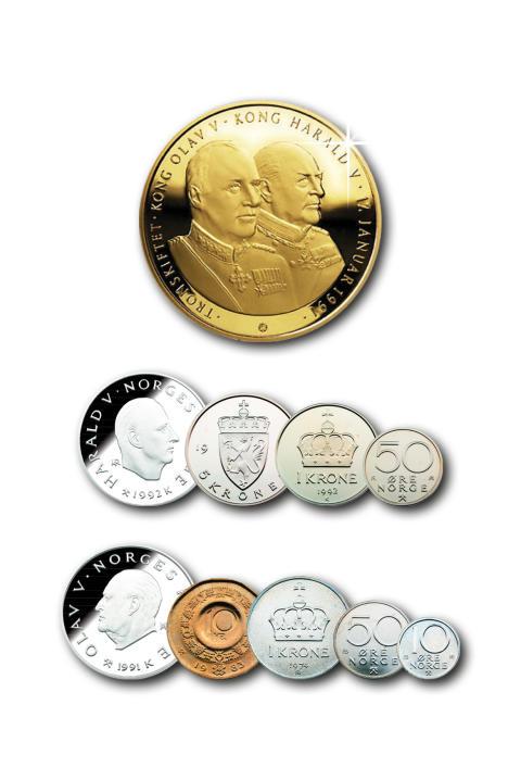 Tronskiftet prestisjesett, spesialutgave i rent sølv belagt med 24 karat gull