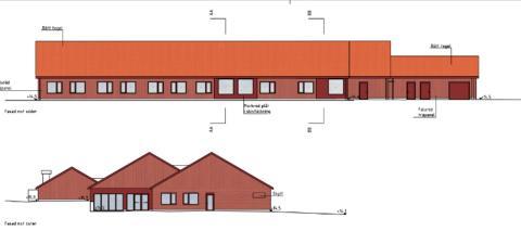 Skiss på kommande vårdcentral i Almunge