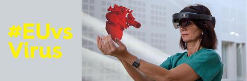 EUvsVirus Lege holder hjerte i hånden