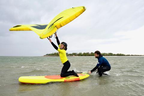 Die erste Wingsurfschule Deutschlands eröffnet auf der Ostseeinsel Fehmarn, Foto: Chrisopher Ludewig