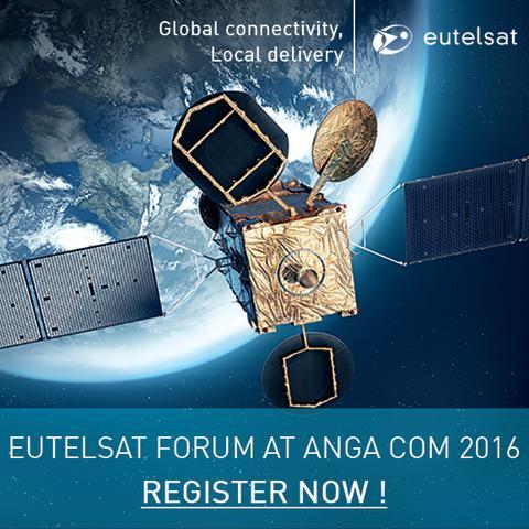 Eutelsat mit technischen Innovationen, Ultra HD und satellitenbasierten Diensten auf der ANGA COM