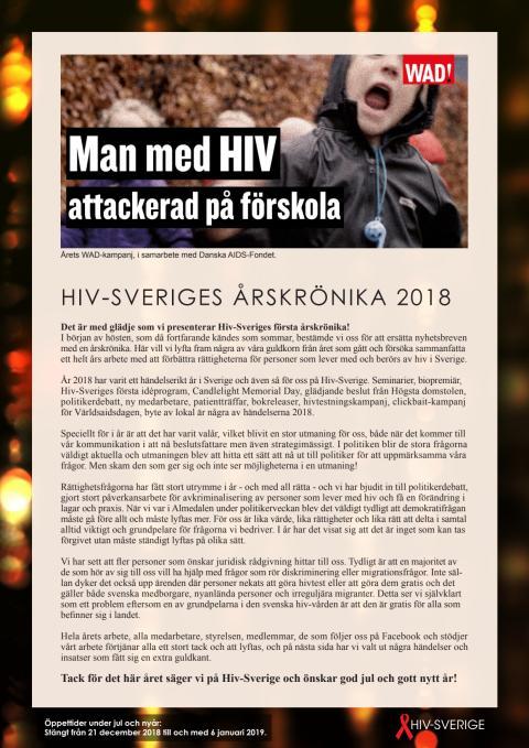 Hiv-Sveriges årskrönika 2018