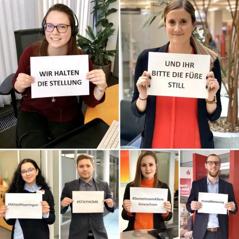 Sparkasse Mittelthüringen beteiligt sich an #stayathome