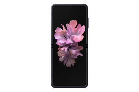Samsung Galaxy Z Flip_open front_purple mirror