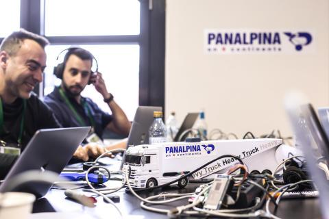 Panalpina taking part in a hackathon