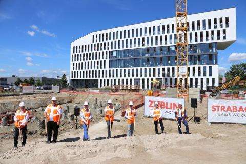 ZÜBLIN feiert Spatenstich für eigenen Erweiterungsbau in Karlsruhe
