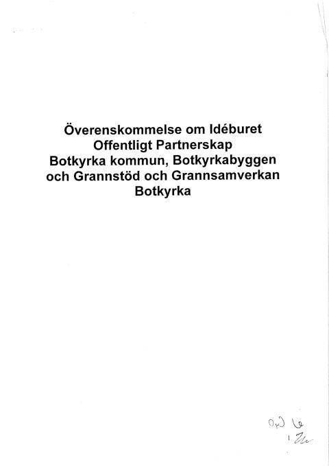 Avtal IOP Grannstöd/Grannsamverkan, Botkyrka kommun, Botkyrkabyggen