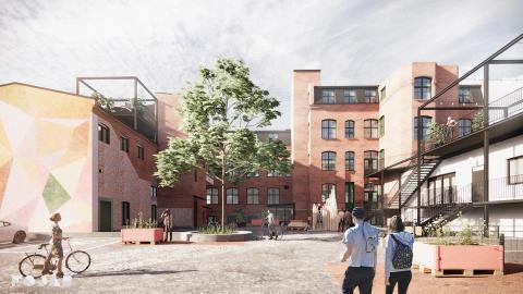 Stena Fastigheter och FOJAB skapar hållbara kontor i gamla Trikåfabriken