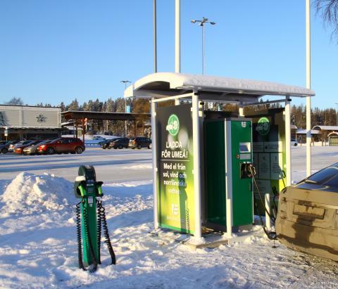 Bee Charging Solutions och Umeå Energi satsar på elbilsladdning i Västerbotten