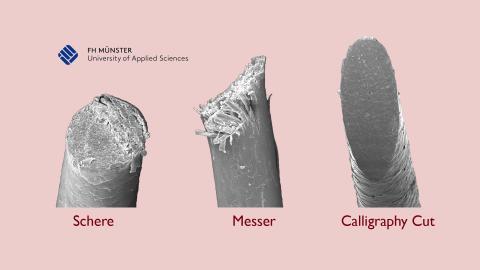 Fotocollage Unterschied Messer - Schere - Calligraphy Cut