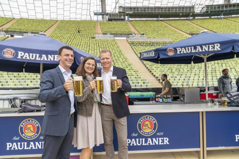 """""""Der Ring des Bieres"""" – Paulaner installiert zentrale Bierversorgung im Olympiastadion"""