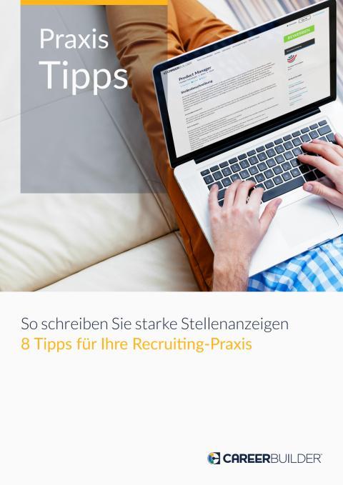 E-Book: Praxis-Tipps - So schreiben Sie starke Stellenanzeigen