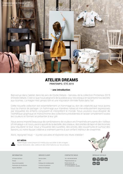 FR - Pressrelease Atelier Dreams
