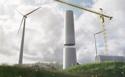Världsnyhet på Trä & Teknik: högeffektiva vindkraftstorn i trä