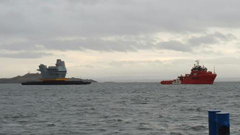 Royal Navy på slæb
