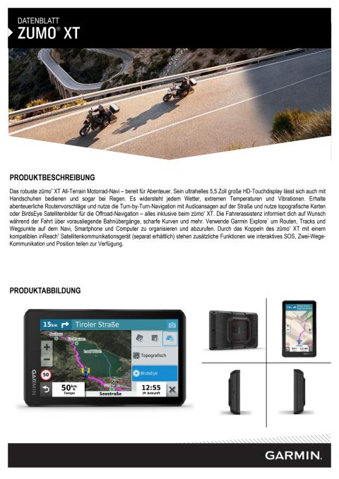 Datenblatt Garmin zumo XT