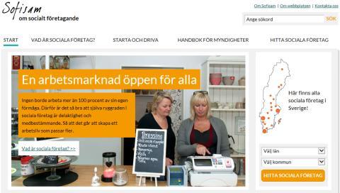 Sofisam.se – ny sajt om socialt företagande