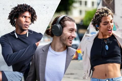 Sony introduceert drie nieuwe draadloze headphones