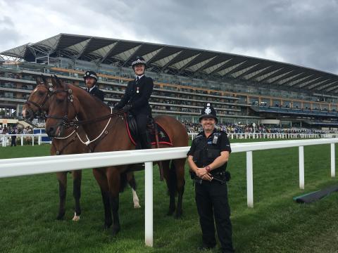 Police officers at Royal Ascot 2019