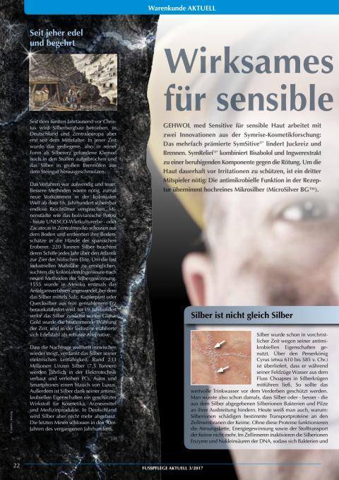 Mikrosilber: Wirksames Kleinod für sensible Haut