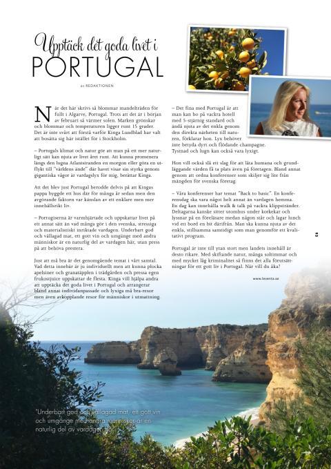 Upptäck det goda livet i Portugal - artikel i Magasinet Sturebadet