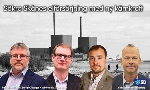 Säkra Skånes elförsörjning med ny kärnkraft