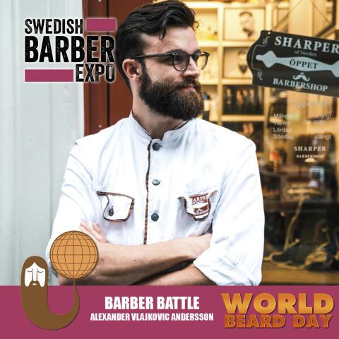 """Han representerar Göteborg i tävlingen om """"Årets barberare 2017"""""""