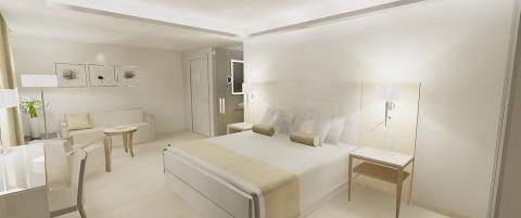 Illustration neue Zimmer Maritim Hotel auf Malta