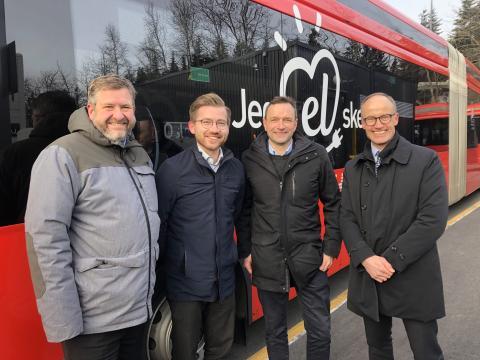 Oslo kan få hundre nye elektriske busser