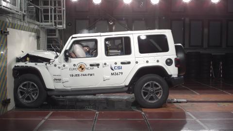 Jeep Wrangler frontal full width Dec 2018