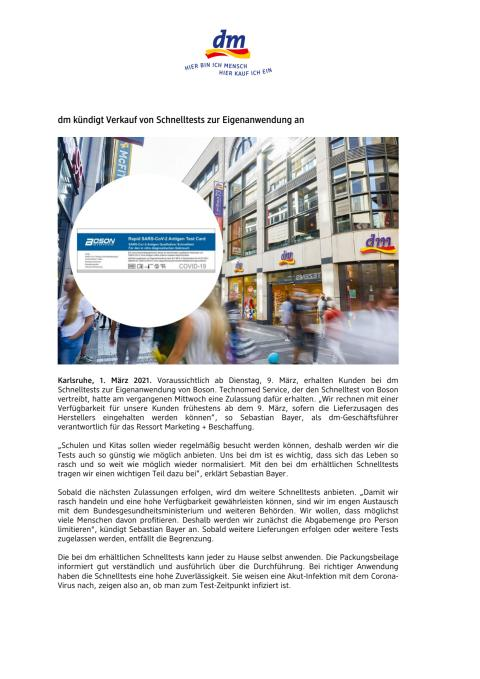 Pressemitteilung dm kündigt Schnelltests an.pdf
