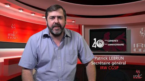 Congrès Statutaire - Discours de Patrick LEBRUN - 21/09/2020