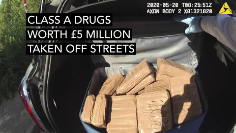 Drugs found in the suitcases