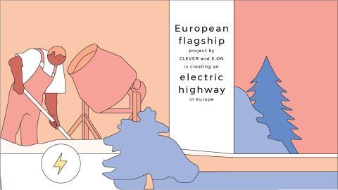 CLEVER och E.ON etablerar ultrasnabb laddkorridor från Norge till Italien