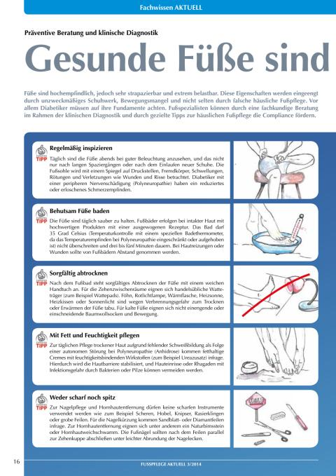 Präventive Beratung und klinische Diagnostik: Gesunde Füße sind starke Füße