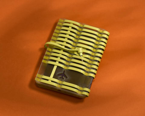 sony h.ear on yellow passport holder