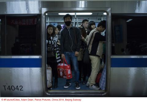 Copyright FutureofCities, Adam Dean, Panos Pictures, China 2014, Beijing Subway_01