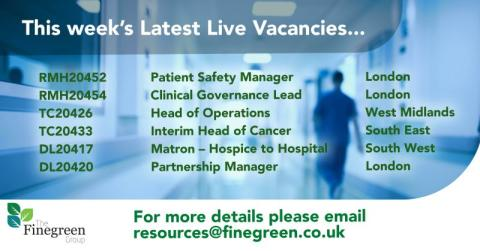 Latest Live Vacancies with Finegreen