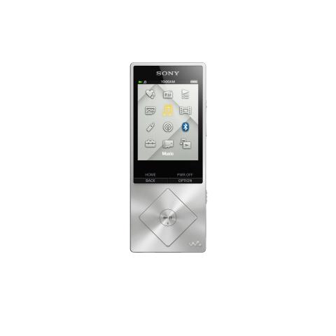 NWZ-A15 von Sony_silber_01