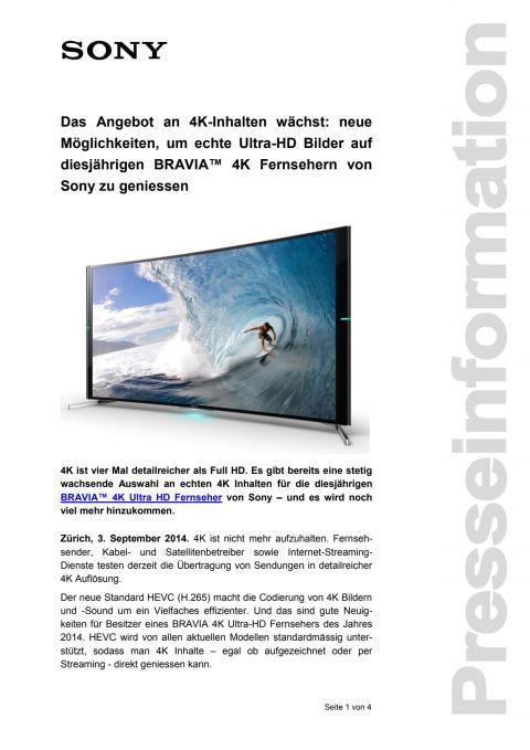 Medienmitteilung_4K TV_D-CH_140903