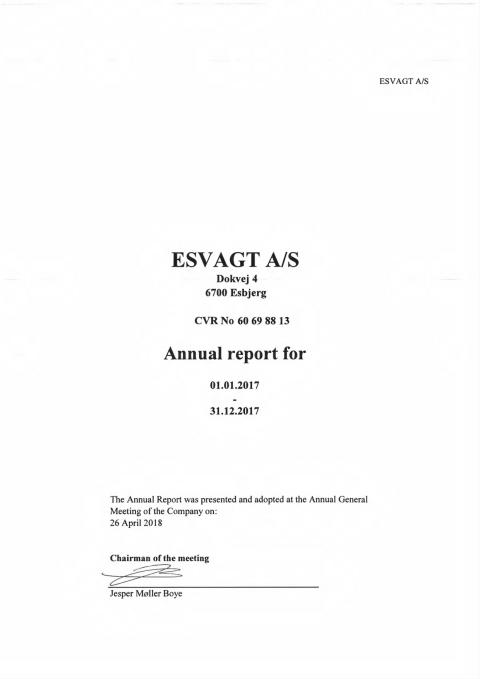ESVAGT Annual Report 2017