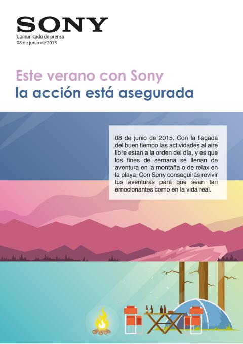 Este verano con Sony la acción está asegurada