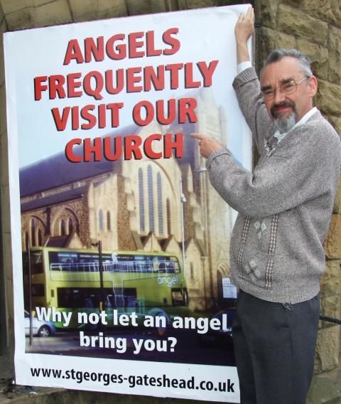'Angel' sighted at Gateshead church