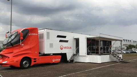 Der Veolia Truck für Arbeitssicherheit. Zu Besuch in Celle