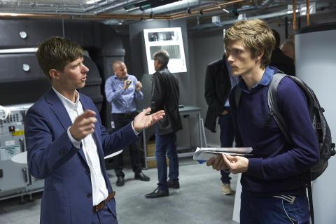 Jonas Anund Vogel föreståndare för KTH Live-In Lab på plats på invigningen i höstas. Foto: Fredrik Persson