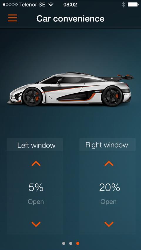 Koenigsegg One:1 app Car Convenience