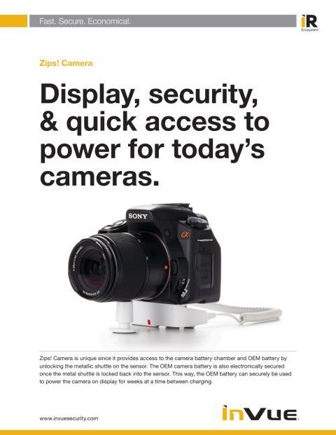 Varularm från Gate Security - InVue Zips! Camera