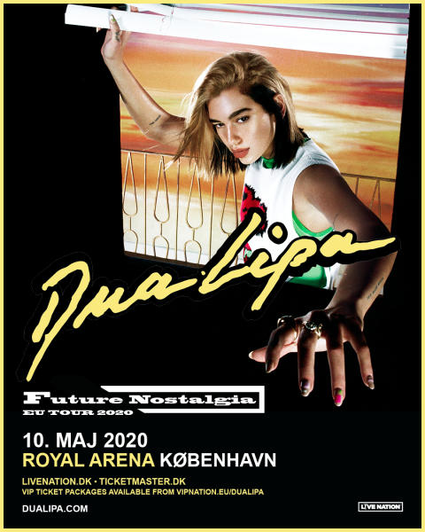 Dua Lipa kommer til Royal Arena 10. maj