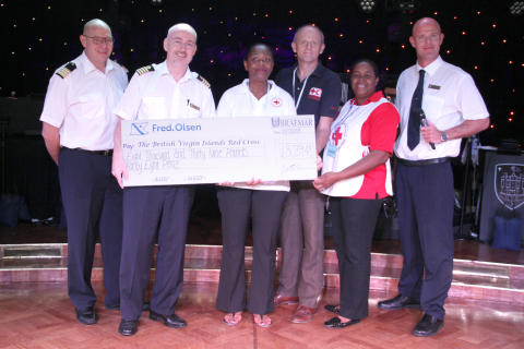 Fred. Olsen guests donate over £8,000 to the British Virgin Islands Red Cross to aid hurricane recovery in Tortola