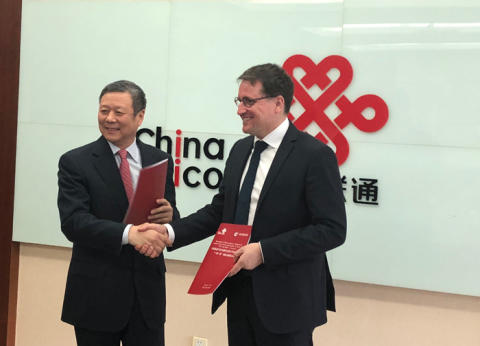 "Eutelsat and China Unicom join forces to provide satellite communication services in the framework of the ""Belt and Road"" initiative"